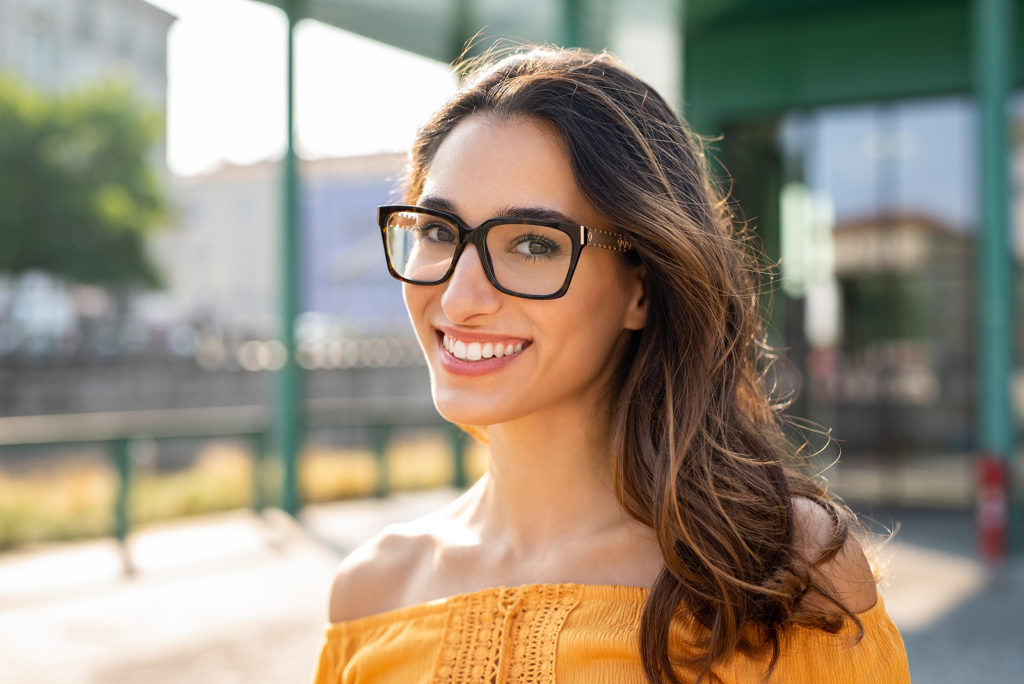 Woman happy about working on her relationship